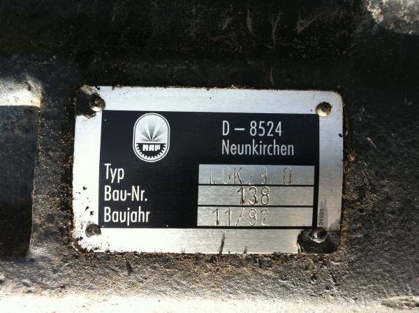Timberjack 1270A bogie axle LOK 29